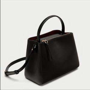 NWOT Zara Medium Tote Bag with Zip